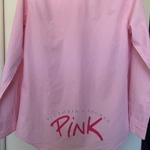 Pink Victoria's Secret night gown small